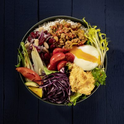 miso red cabbage bowl